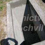 jednohrobka betonáž